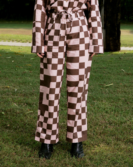 PIXEL PANTS WITH ROPE