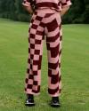 Pixel knit long pants