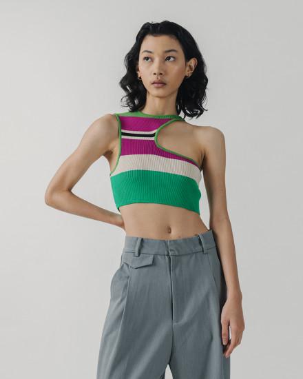 Stripe hollow top