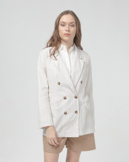 stripes linen Blazer