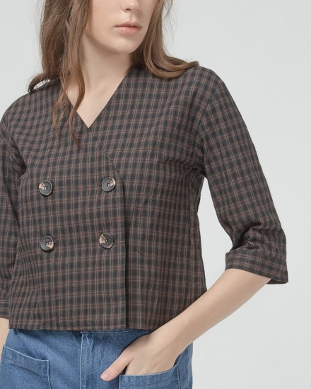 Paola's gingham Top