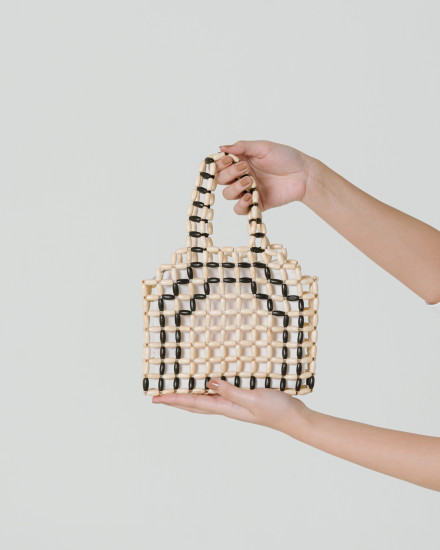 Mini wood beads Bag